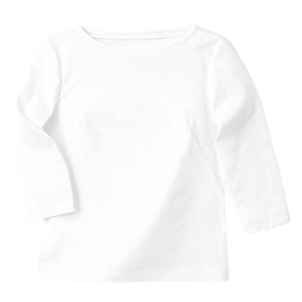 七分袖ボードネックT(天竺)WP354-17(L)(ホワイト) 1