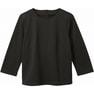 七分袖シームT(天竺)WP359(S)(ブラック) 1