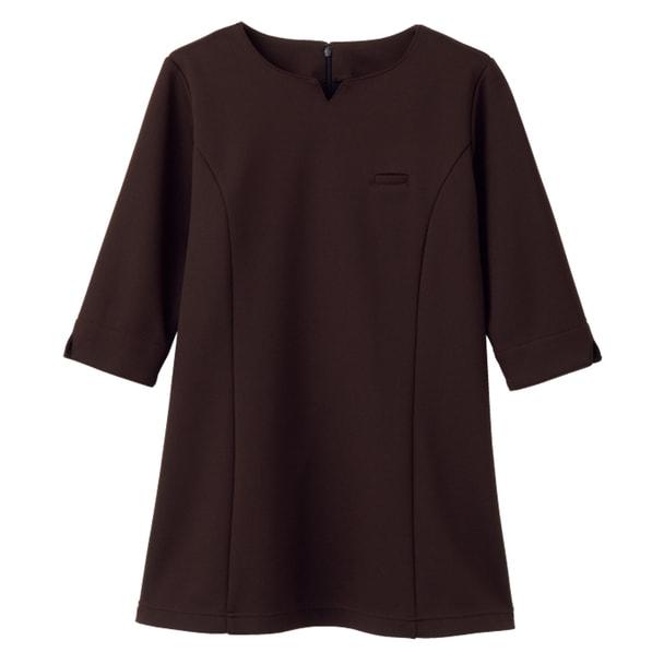NADジャケット(レディス・7分袖)NAD6006-3(S)(ブラウン) 1