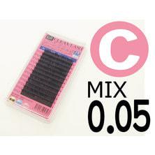 【松風】先細抗菌やわらかシルクセーブル Cカール[太さ0.05][長さMIX] (01603)