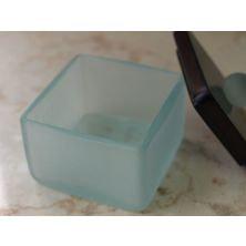 ガラス製コットンケース(ミニ・フロスト)