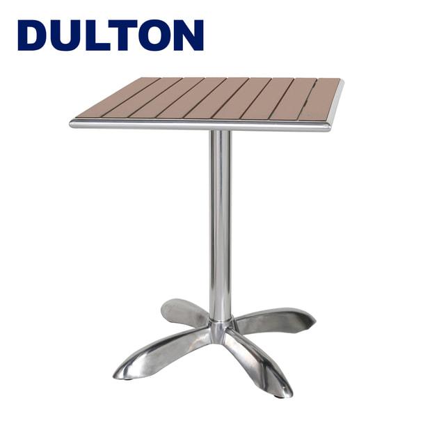 アルミニウム カフェテーブル スクエア ライトブラウン(H845-1024LBR) 1