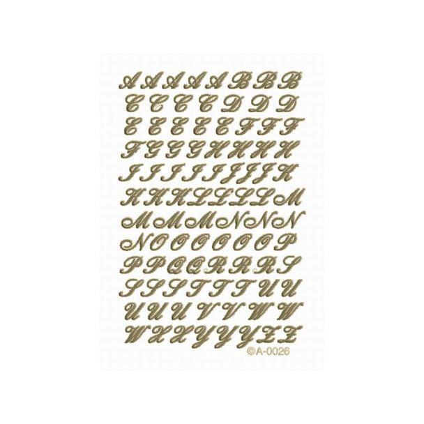 エレガントカットシール アルファベット 5902-4383(ゴールド)