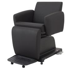 電動シャンプーチェア ALVIN-Sofa【ステップ付・レッグレスト固定タイプ】ブラック