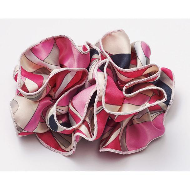 スカーフ+リングコサージュ8084-4(ピンク) 1