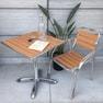 アルミニウム カフェテーブル スクエア ライトブラウン(H845-1024LBR) 2