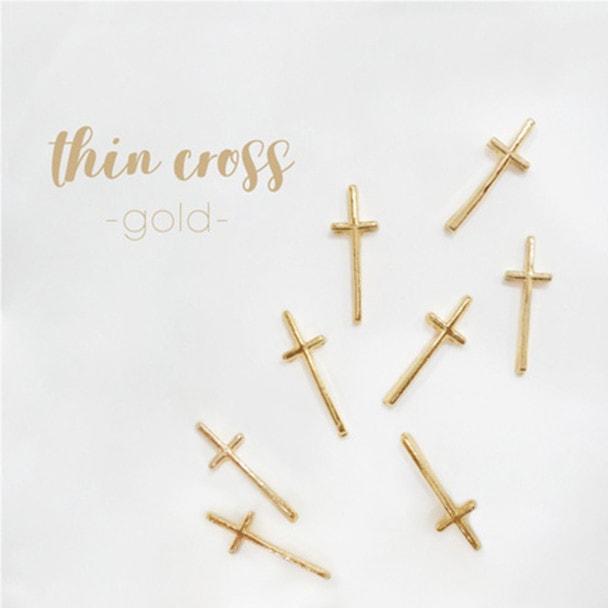 Bonnail×rrieenee thin cross -gold- 1