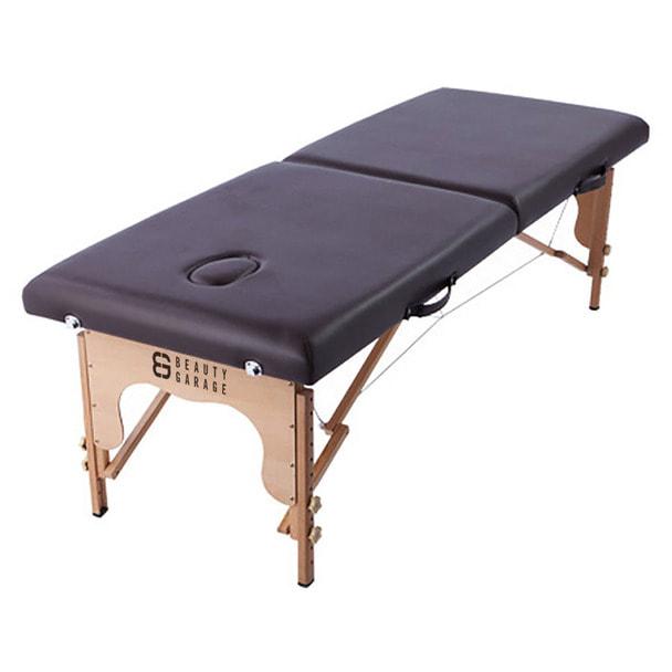 軽量木製折りたたみベッド EB-03(キャリーバッグ付)  (ダークブラウン) 1