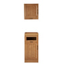 【シャビーシック】天然木製バックシャンプーキャビネットRENE-B(上下セット)LBR 2