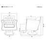 【ラグジュアリー】スタイリングチェア MASSIMO(選べる3色+脚部8タイプ) 7