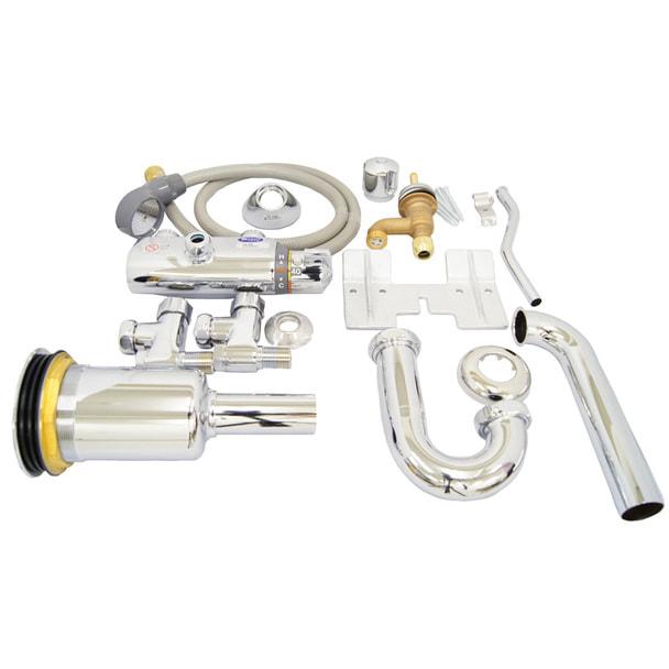 サーモスタット水栓金具セット TL45PR 壁排水Pトラップタイプ 1