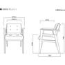 GRAIN天然木製スタイリングチェア【日本製】(選べる4色+フレーム4色) 16