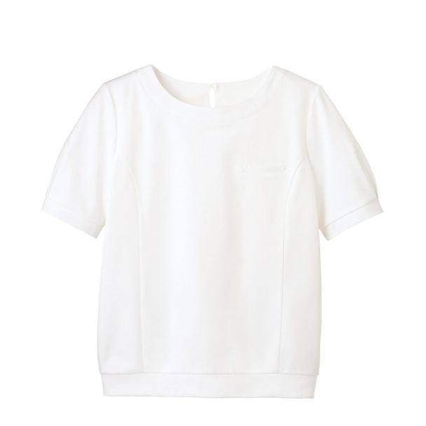 パフ袖オーバーブラウスT WP328(S)(ホワイト) 1