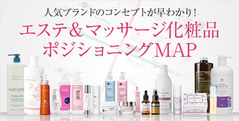 エステ・マッサージ化粧品ブランド ポジショニングマップ