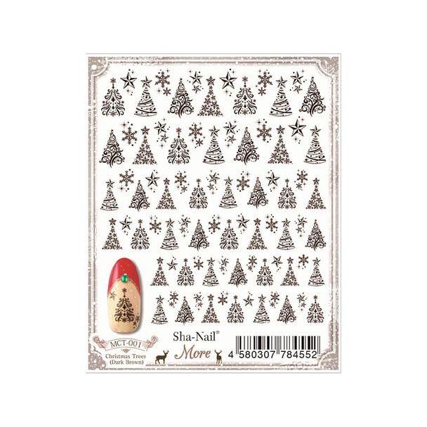 写ネイルMore Christmas Trees (Dark Brown)MCT-001