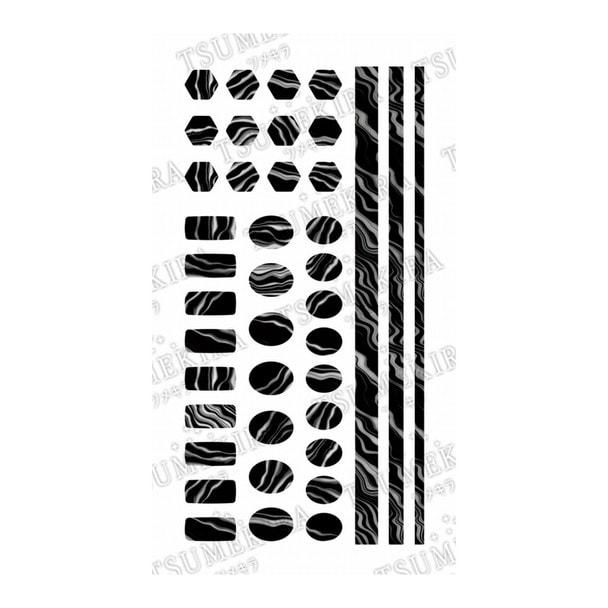 ツメキラ【noble】zebra marble NO-ZEM-101(ジェル専用) 1
