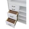 【シャビーシック】木製アンティークレジカウンター VICTOIRE-1200(ヴィクトール)アンティークホワイト 4