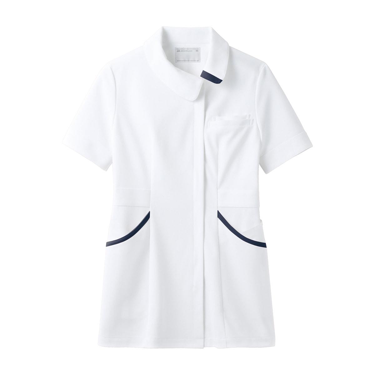 4c92745ae673 ENHナースジャケット(半袖)73-1828(S)(白/ネイビー)の卸・通販 ...