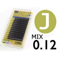 【松風】先細抗菌やわらかシルクセーブル Jカール[太さ0.12][長さMIX] (00511)