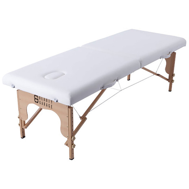 軽量木製折りたたみベッド EB-03(キャリーバッグ付)  (ホワイト) 1
