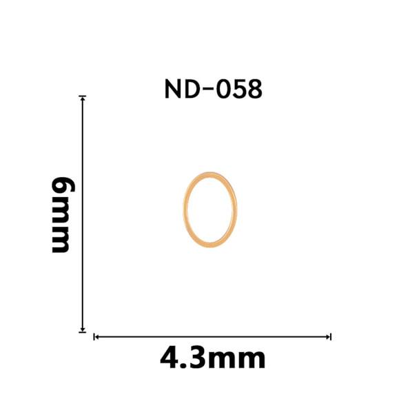 【ND058】NAILTAS(ネイルタス)ネイルデコパーツ 中抜きオーバル
