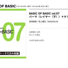 BASIC OF BASIC vol.07 パーマ[ レイヤー(下) ]+ケミカル知識 技術解説/MAGNOLiA岩上昌弘