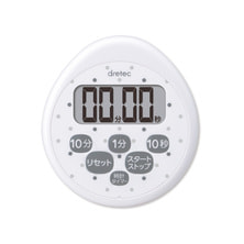時計付防水タイマーT-565 ホワイト