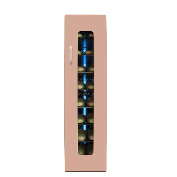 殺菌スリッパ保管庫 UVクリーン エクセレント 8足 左取手 (ピンク)