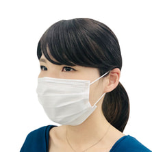 三層不織布マスク 50枚入り(ホワイト)