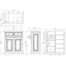 【シャビーシック】木製アンティークレジカウンター VICTOIRE-900(ヴィクトール)アンティークホワイト 6