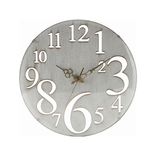 壁掛け時計 レトロ(56920)ホワイト 1
