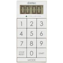 デジタルタイマー スリムキューブT-520WT ホワイト