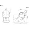 【ヴィンテージ】スタイリングチェア ROTIS(選べる2色+脚部11タイプ) 8