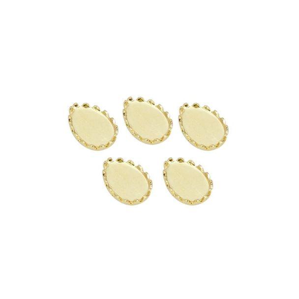 ストーンディッシュ Tear ゴールド 4×6mmストーン用(5個入)(B123)